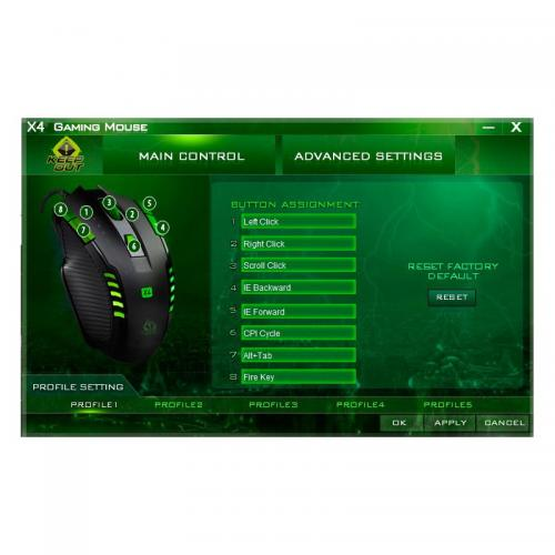 KEEPOUT OPTICAL GAMING MOUSE 2500DPI/8 BUT