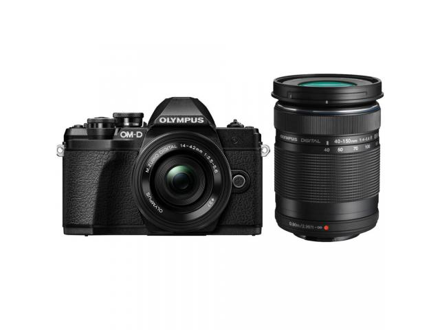 Camera foto Mirrorless Olympus E-M10 Mark III Pancake Double Zoom, 16.1MP, Black + Obectiv 2