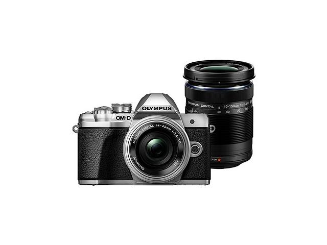 Camera foto Mirrorless Olympus E-M10 Mark III Pancake Double Zoom, 16.1MP, Silver-Black + Obiectiv 2