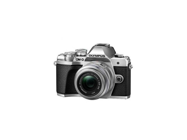 Camera foto Mirrorless Olympus E-M10 Mark III Pancake Zoom, Silver-Black