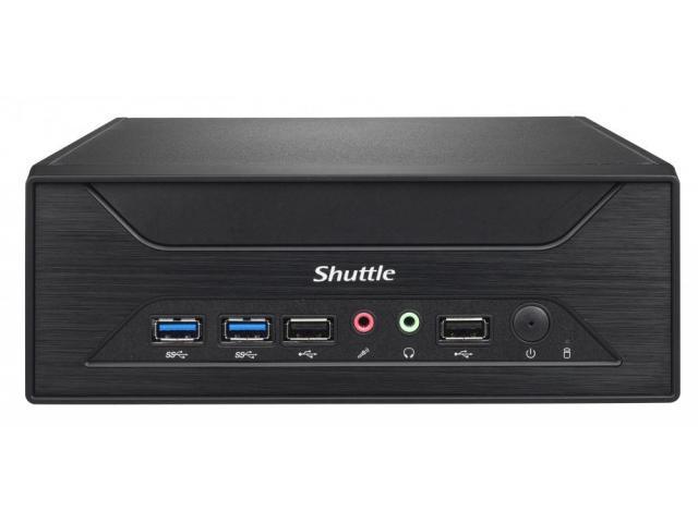 Shuttle Slim-PC Barebone XH270V Black 3.5 litre chassis, black, Bays: 4x 6.35cm/2.5 inch  bay for ha