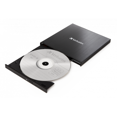 Verbatim EXTERNAL SLIMLINE CD/DVD WRITER USB 3.2 Gen 1/ USB-C