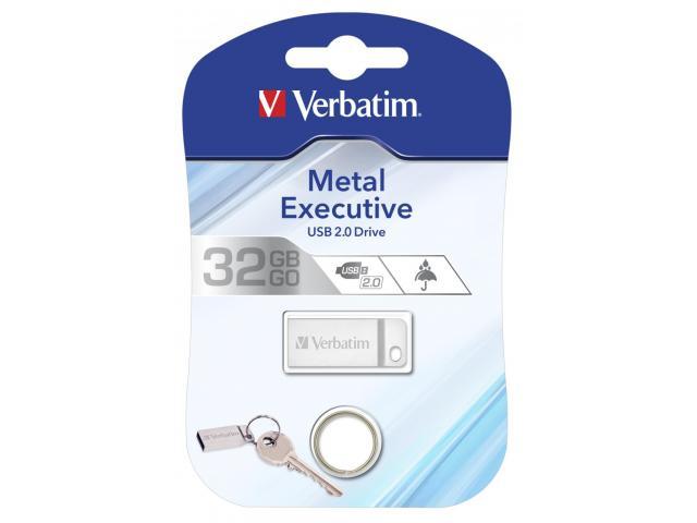Verbatim Metal Executive USB 2.0 Drive Silver 32GB